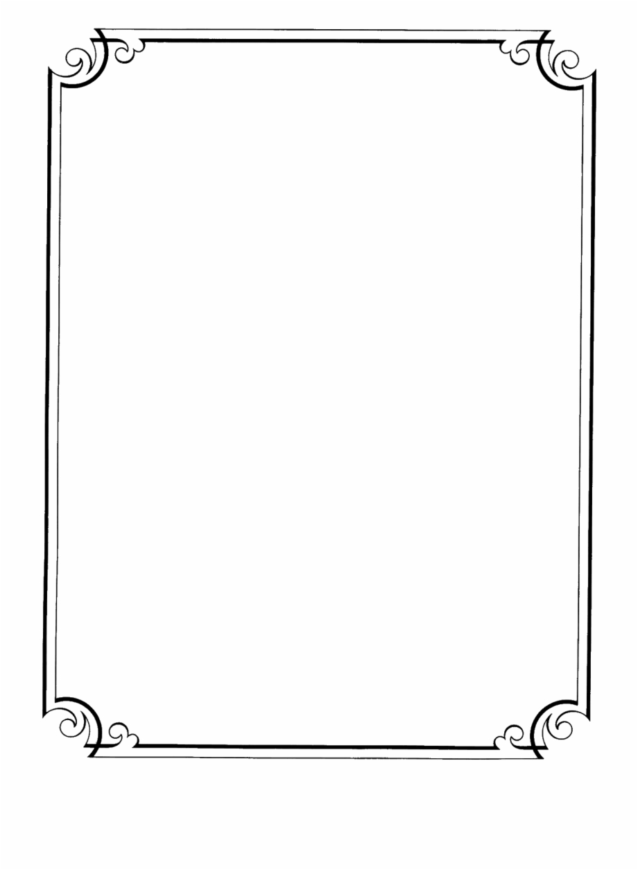 Fancy Page Borders Clipart Photoshop Png.