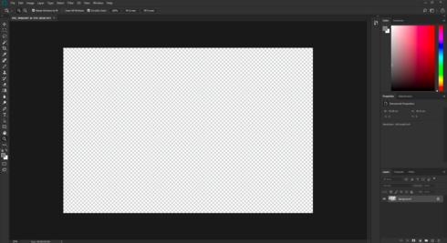 Photoshop CC 2018: Doesn\'t open images correctly, just shows.