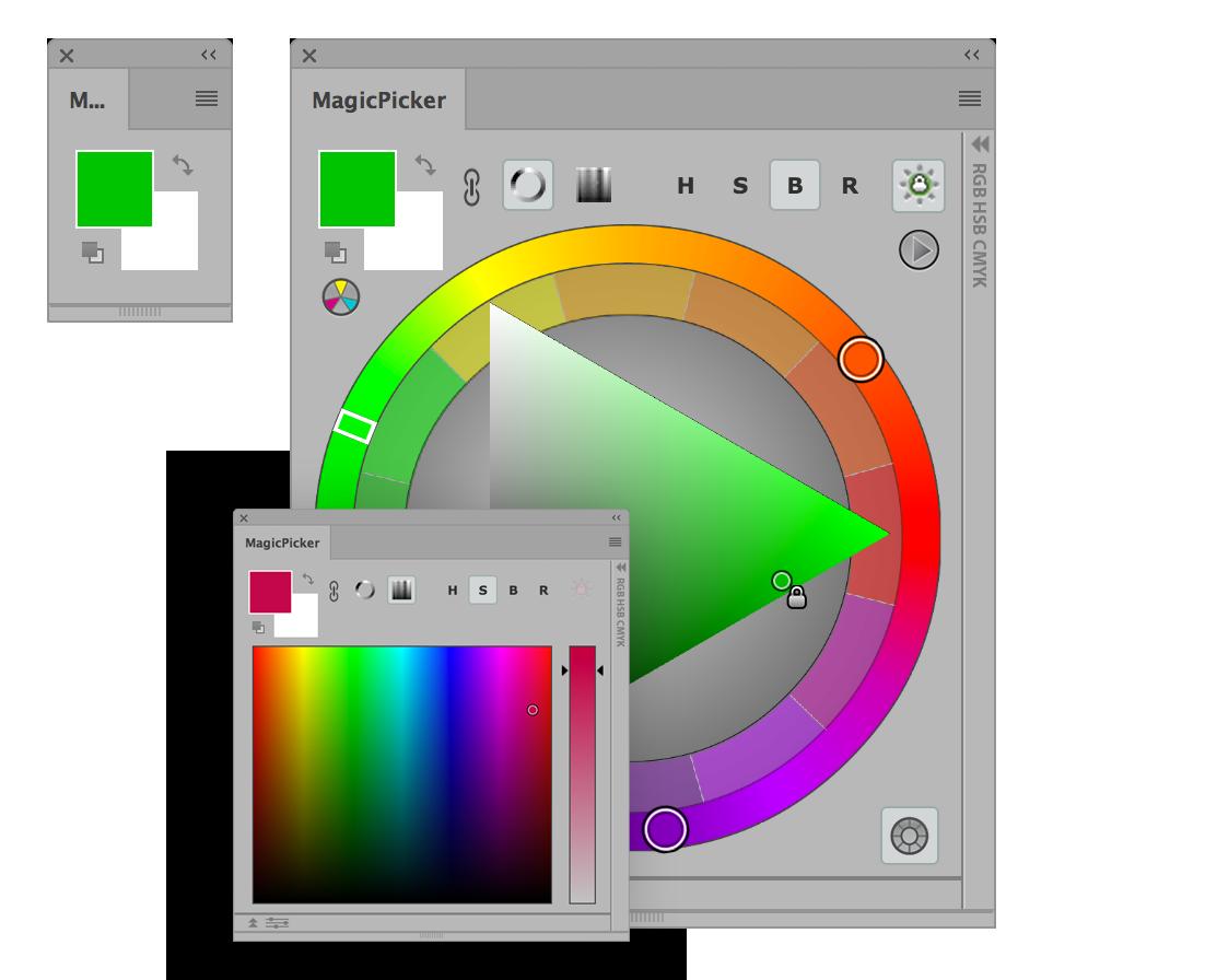 Download Photoshop Color Wheel / Photoshop CC CS6 CS5 CS3.