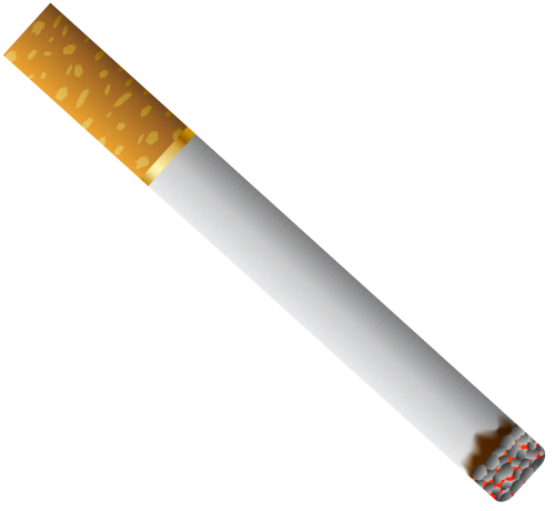 Cigarette with Filter PNG Clipart.