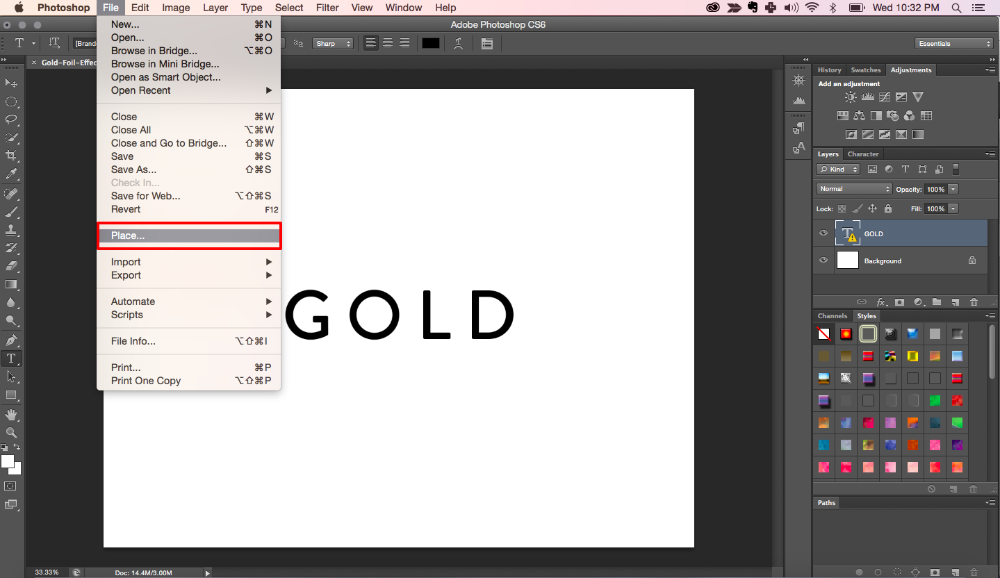 How To Create A Gold Foil Effect In Photoshop [ Clipping Mask.