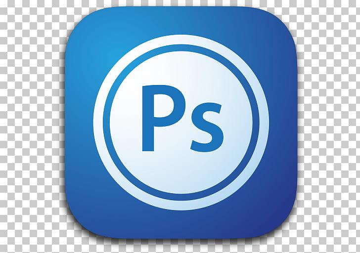Electric blue text brand, Photoshop, Ps logo illustration.
