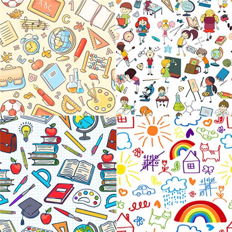 School seamless patterns N2278.