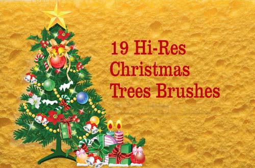 50+ Free Christmas Trees and Decoration Brushes For Photoshop.