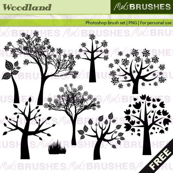 43+ Free Photoshop Tree Brushes.