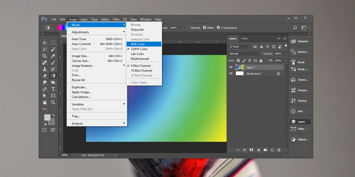 How To Convert Images From CMYK To RGB Mode In Photoshop.