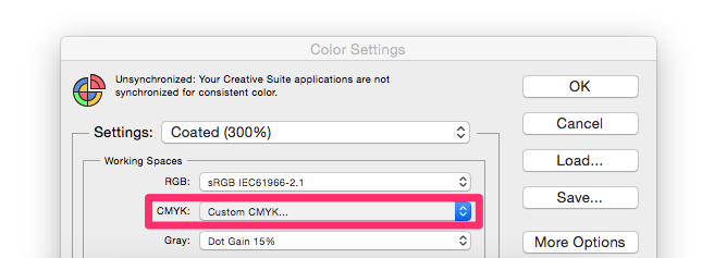 Converting RGB images to CMYK & setting Ink Levels.