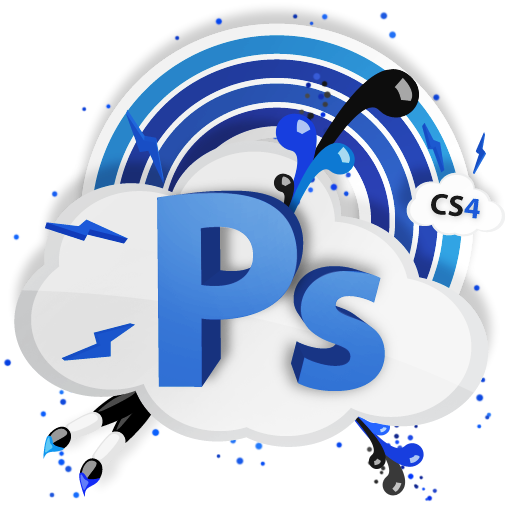 adobe, Ps, Cs, photoshop, cs4 icon.