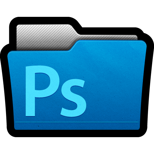 Adobe, cs5, directory, files, folder, photoshop icon.