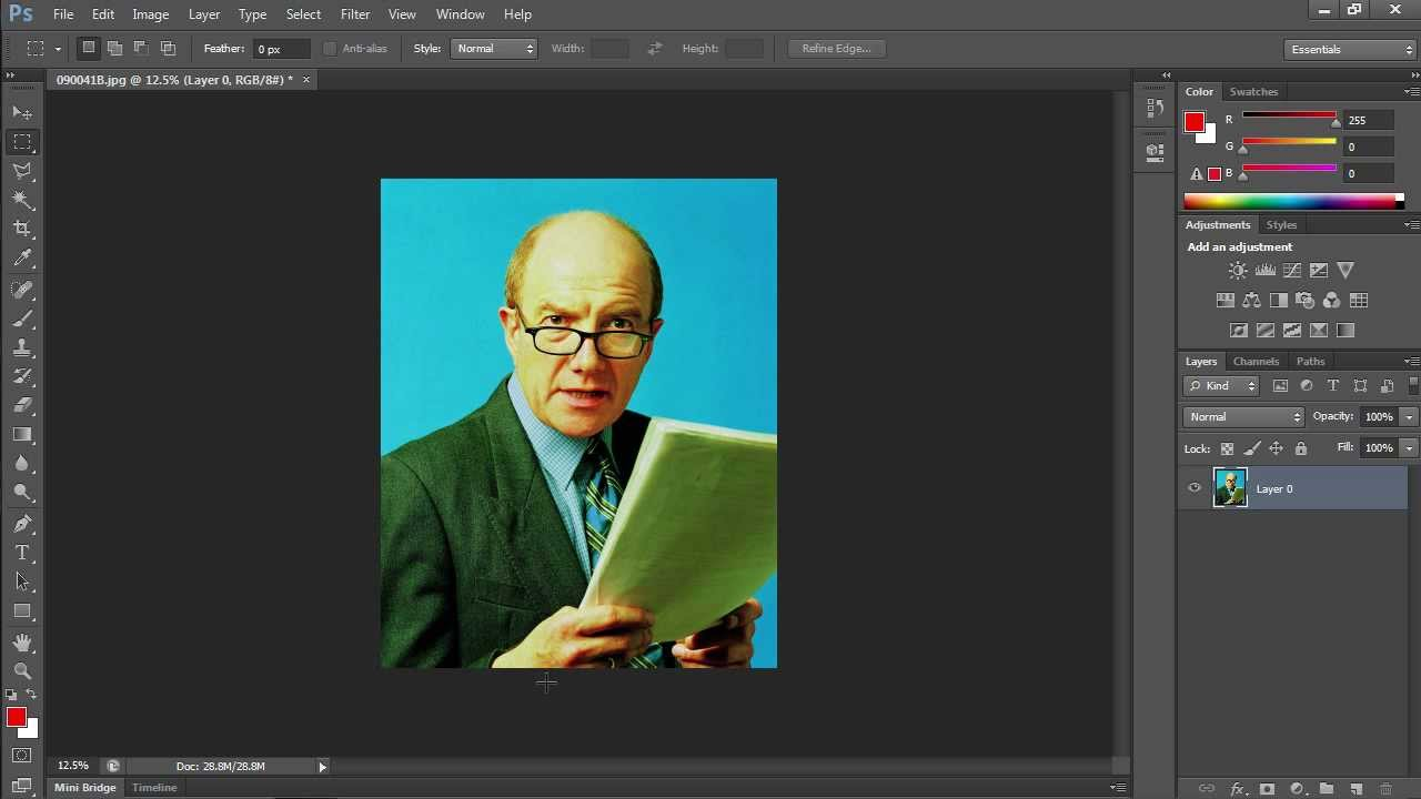 How to Flip Layer in Photoshop CS6.