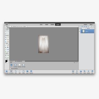 Photoshop Elements 2019 Expert Mode , Transparent Cartoon.