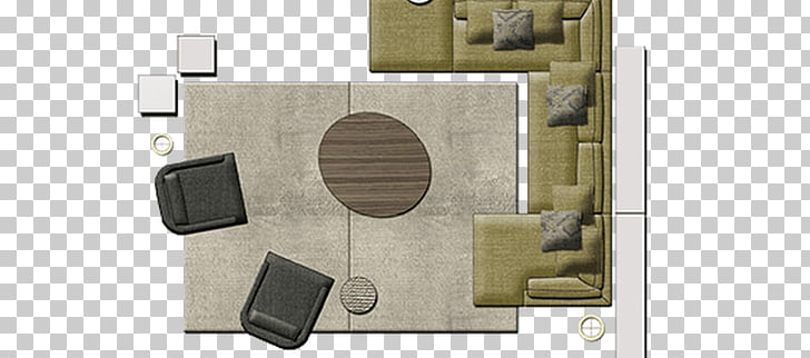 Couch Table Furniture Sofa bed Chair, Couch top view.