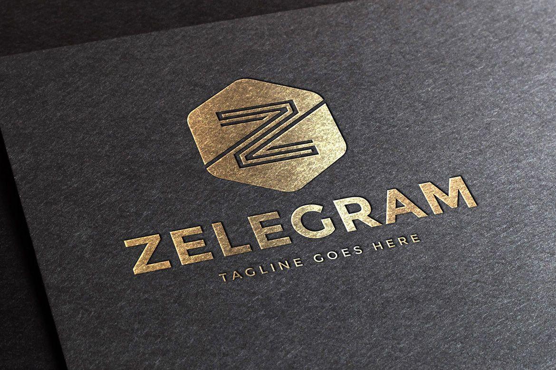 Zelegram Letter Z Logo Template.