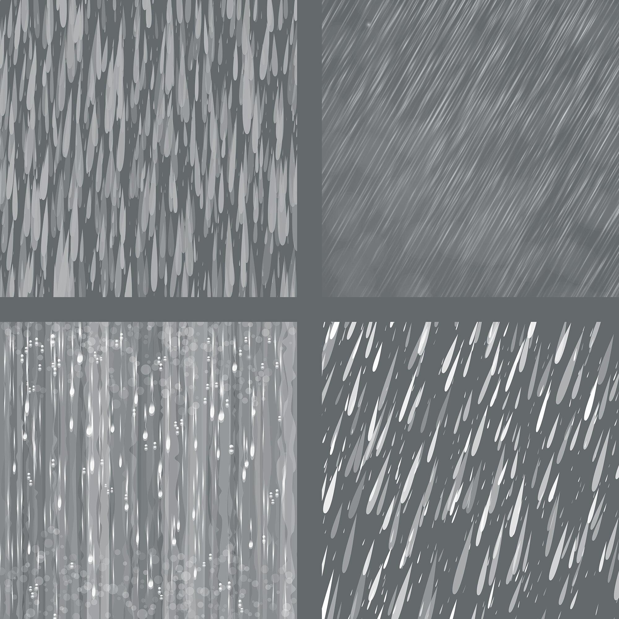 Rain Overlays Clipart, Falling Rain, Photoshop Overlays, By.