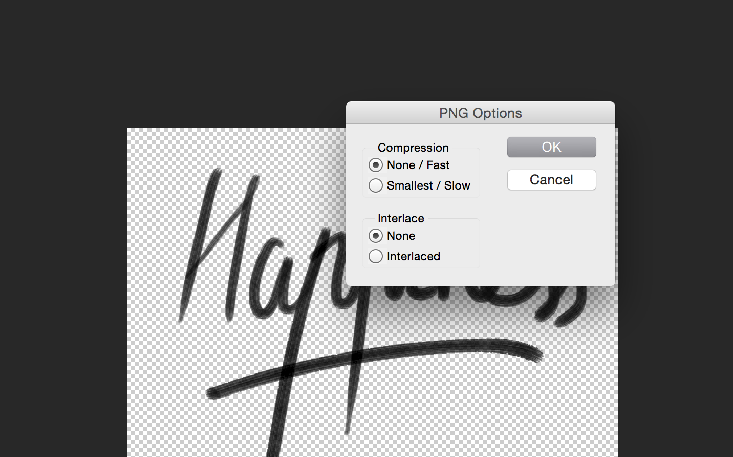 How to save a 32 bit PNG in Photoshop CS5 with alpha channel.