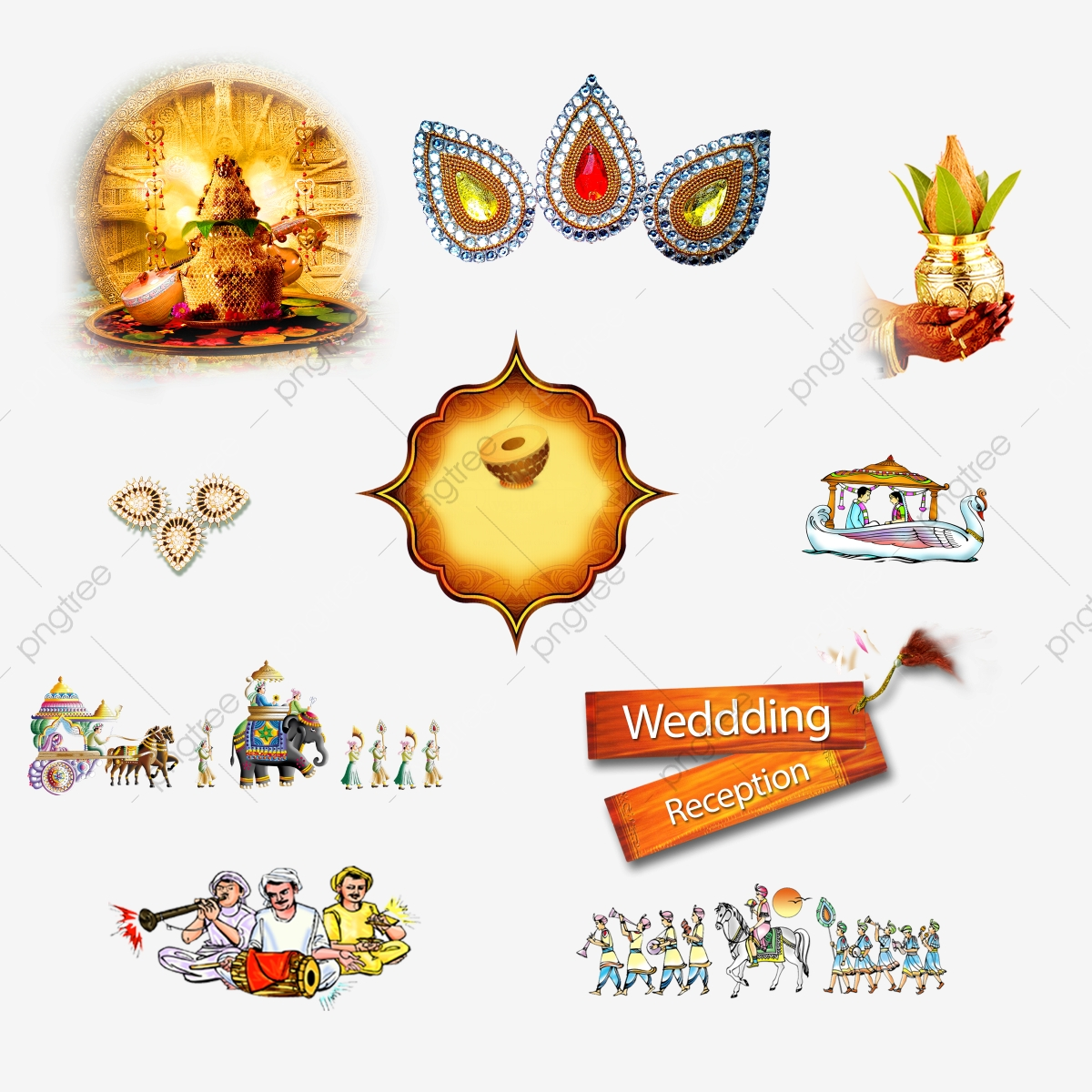 Indian Wedding Clipart Png, Wedding Symbol Clipart, Wedding.