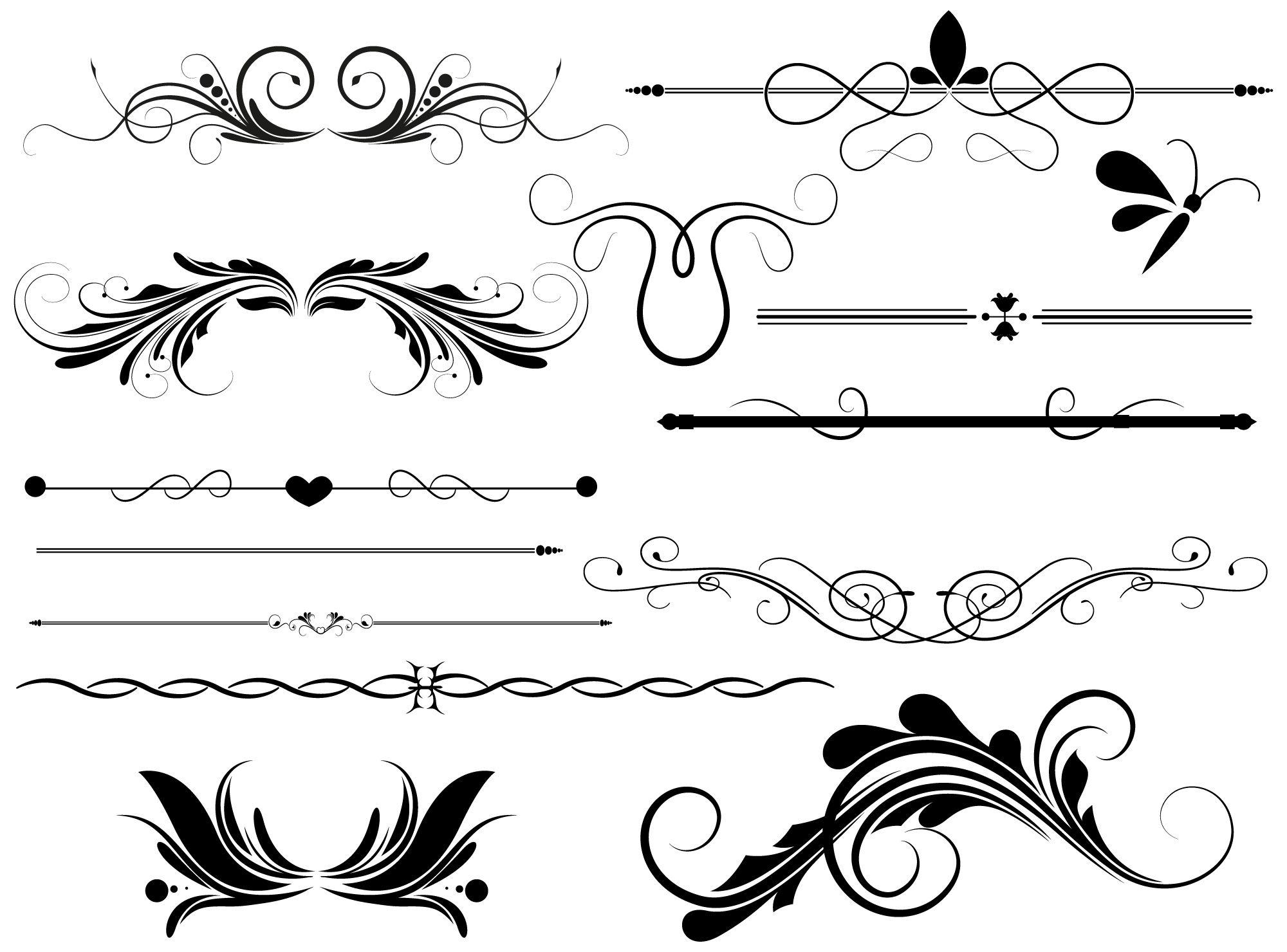 Free Vector Decorative Divider Clip Art.