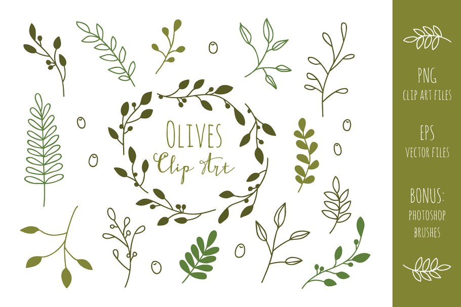 Olive Branches Clip Art and Vectors.