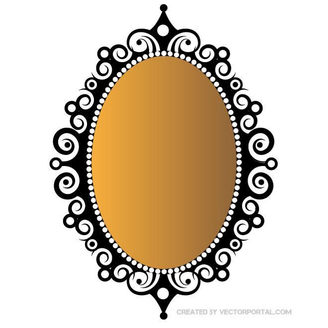 Mirror Clip Art Free Vector.