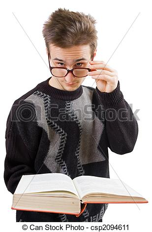 Stock Photography of Smart guy.