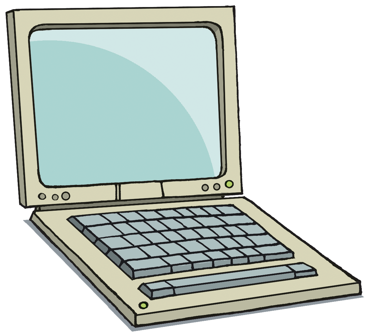 Mac laptop clipart.