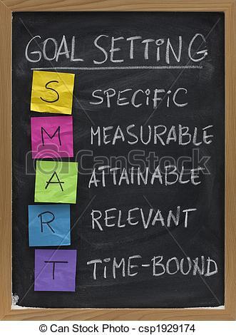 Smart Goals Clipart.