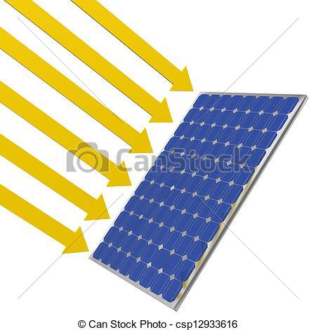 Solar cells clipart.