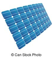 Photovoltaic array Clipart Vector and Illustration. 23.