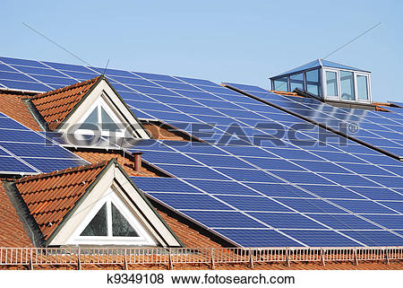 Pictures of Roof With Photovoltaic System k9349108.