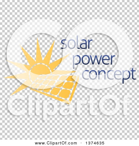 Clipart of a Sun Shining Behind a Solar Panel Photovoltaics Cell.