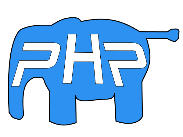 PHP elephant SVG Vector file, vector clip art svg file.