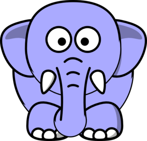 Periwinkle Elephant Clip Art at Clker.com.
