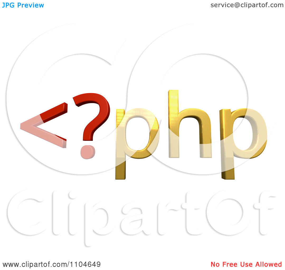 Clipart 3d Red And Gold Php Scripting Language.