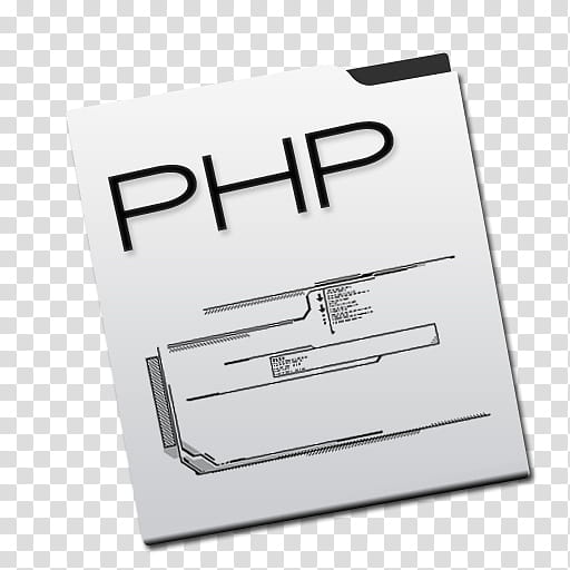 Sonetto Icons and Extras, php, white PHP folder illustration.