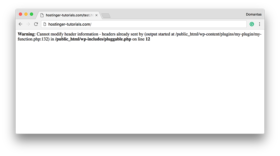 Fix Warning: cannot modify header information.