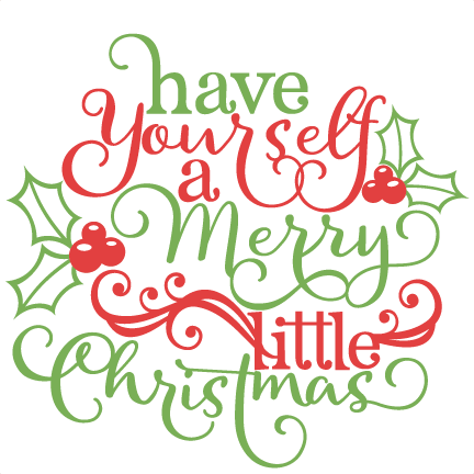 Free christmas phrases clipart.