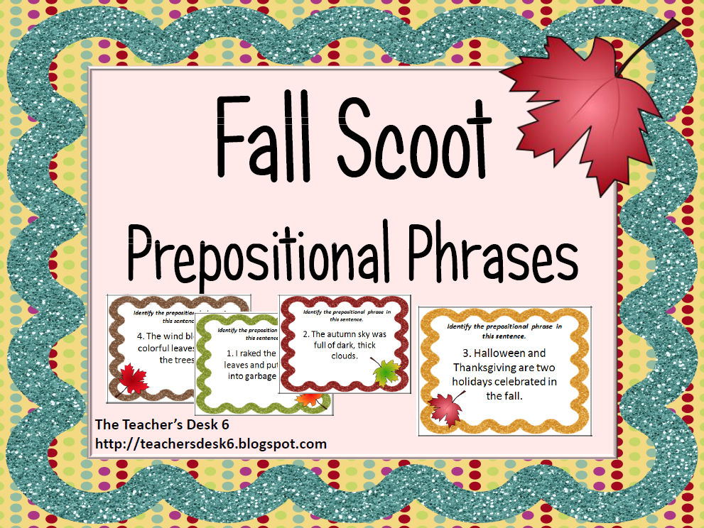 Prepositional phrase clipart images.