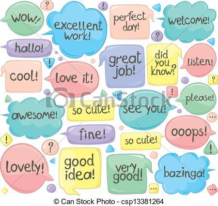 Phrases Clip Art.