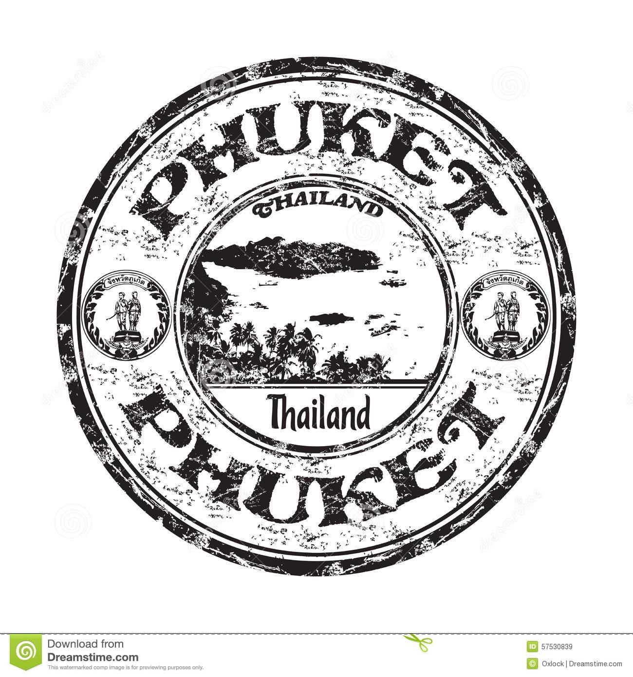 Phuket Grunge Rubber Stamp Stock Vector.
