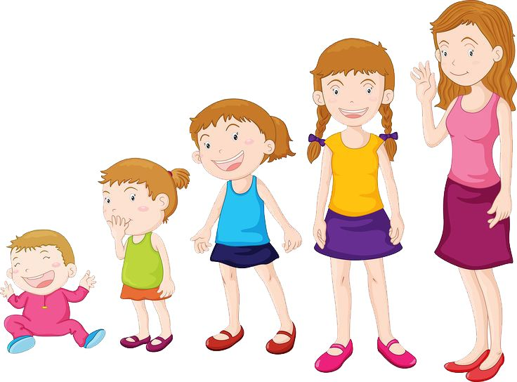 Stages Of Child Development Clipart.