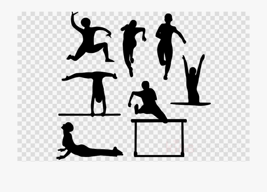 Physical Education Clip Art Black And White , Transparent.