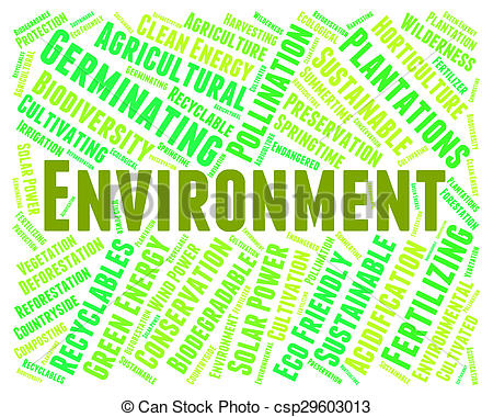 Clipart of Environment Word Shows Earth Friendly And Eco.