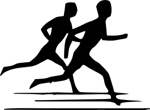 Physical Activity Black And White Clipart.