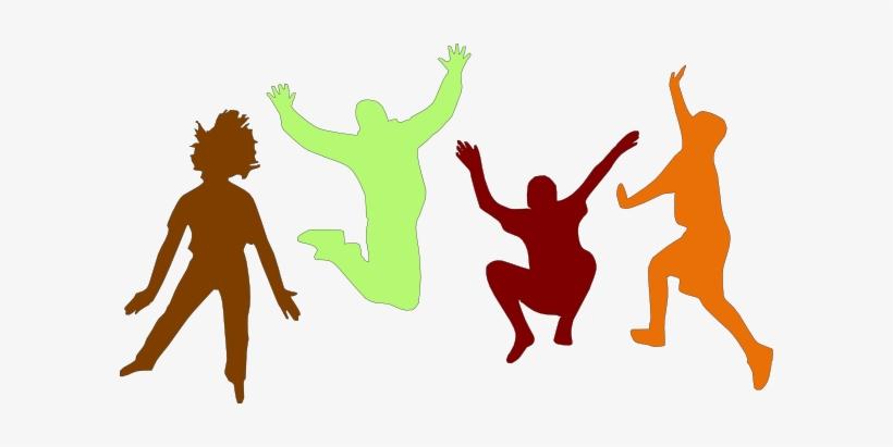 Kids Jumping Clip Art.