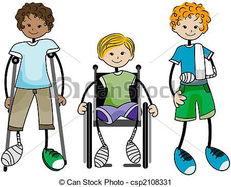 Clipart of Injured Kids csp2108331.