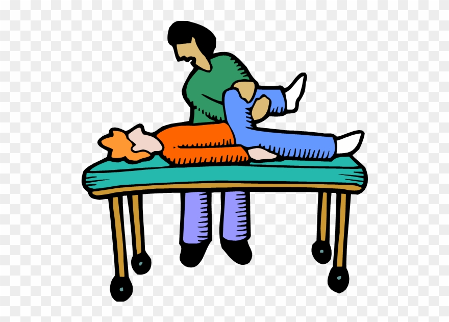 Phyiscal Therapist Working With A Patient.