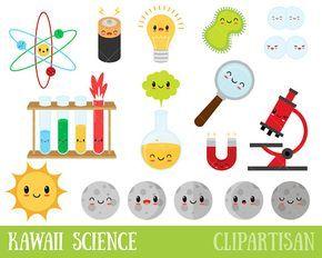 Kawaii Science Clipart Lab Clip Art Scientist Chemistry.