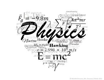 I LOVE Physics! FREE Poster, Logo, Title Page Graphic.