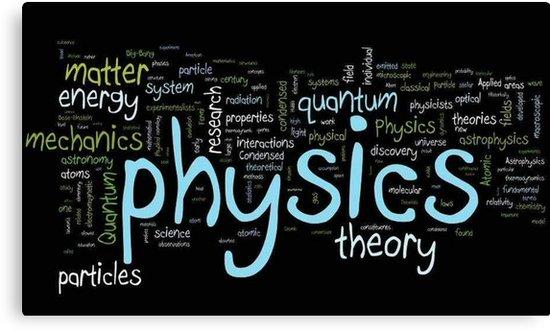 \'Physics logo 1\' Canvas Print by Kevin Richards.