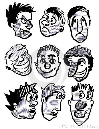 Physiognomy And Person And Smile And People, Stock Images.